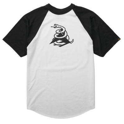 Футболка Emerica Tread Ss Raglan - white/black