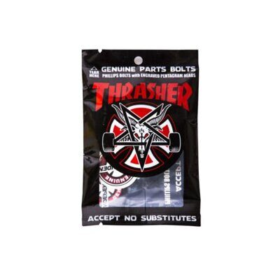 Винты Independent Thrasher Bolts Phillips Hardware 1 in Black Silver