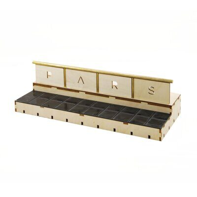 Фигура Pars double box black tile top+rail (R). No kickers.