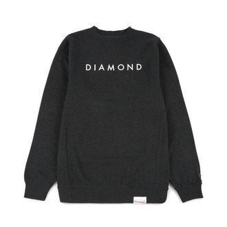 Толстовка Diamond Futura Crewneck Charcoal Heather