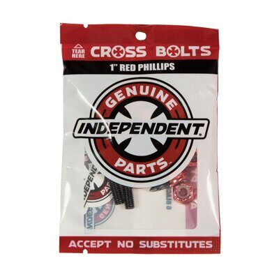 Винты Independent Phillips Hardware In Black Red