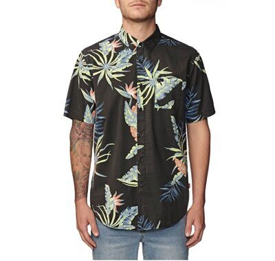 Рубашка Globe Paradise Found Ss Shirt Black