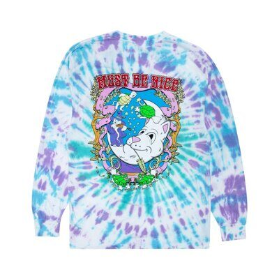 Лонгслив Ripndip Wizard Long Sleeve Teal Purple Dye