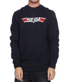 Толстовка HUF Top Huf Crew navy