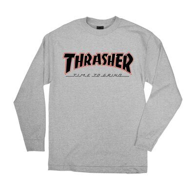 Лонгслив Independent x Thrasher TTG Regular T-Shirt Athletic Heather