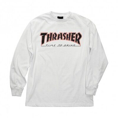 Лонгслив Independent x Thrasher TTG Regular T-Shirt White