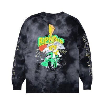 Лонгслив Ripndip Power Nerm Long Sleeve Black Lightning Wash