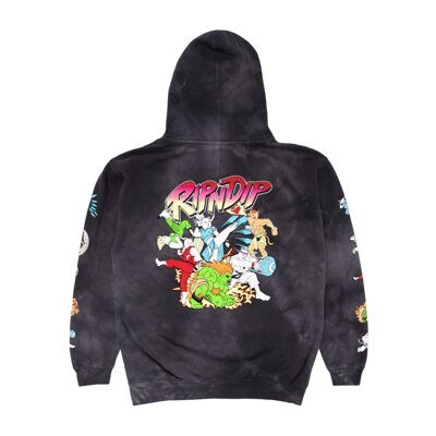 Толстовка Ripndip Nerm Fighter Hoodie Black Lightning Wash