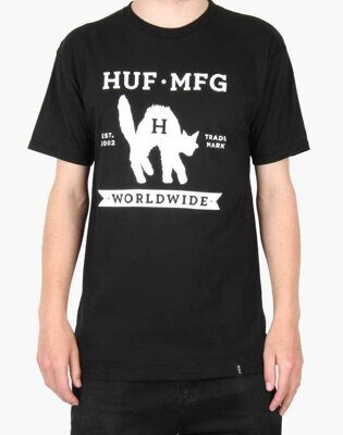 Футболка Huf Black Cat Label Tee Black