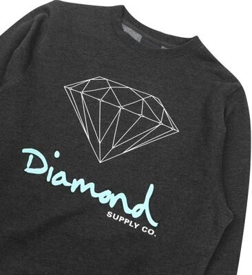 Толстовка Diamond OG Sign Crewneck Fl17 Charcoal Heather