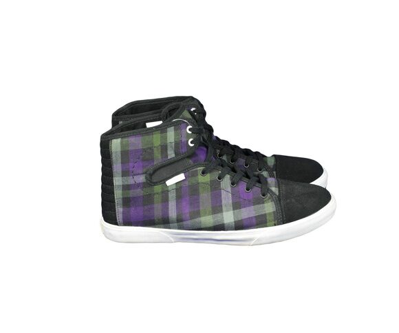 Кеды Vans жен. Hadley Plaid Black Grape