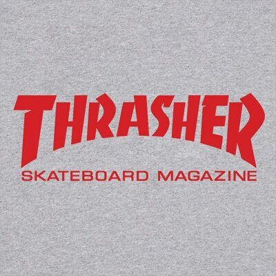 Футболка Thrasher Skate Mag Grey Red