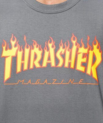 Футболка Thrasher Flame Logo Charcoal Grey