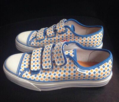 Кеды Vans Prison Issue 23 Polka Dots Blue Astor Orange