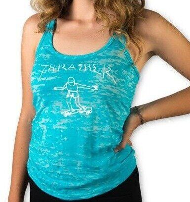 Майка Thrasher Girls Thrasher Gonz Raceback Tank Blue