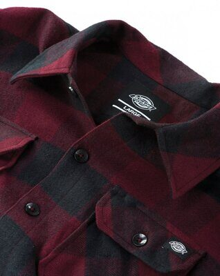 Рубашка Dickies Sacramento Relaxed Long Sleeve Shirt Maroon
