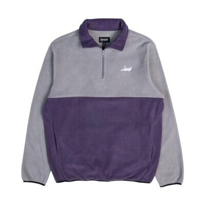Толстовка Ripndip Castanza Half Zip Brushed Fleece Sweater Grey