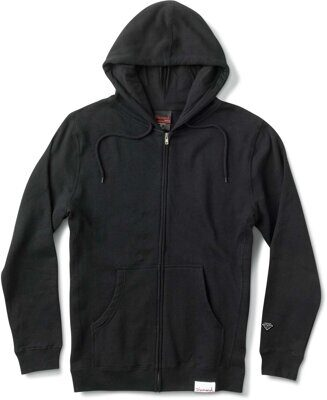 Толстовка Diamond Bombay Zip Up Hoodie Black
