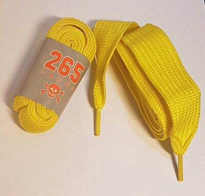 Шнурки 265 LACES wide neon yellow
