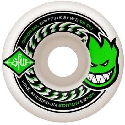 Колеса SPITFIRE WHEELS ANDERSON SFW 2 WHT 52MM 99A