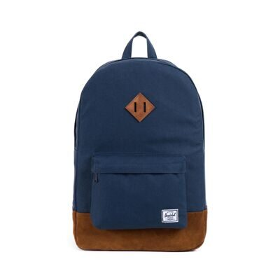 Рюкзак Herschel Heritage Suede Navy/Tan Suede/Tan Pebble Leather