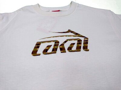 Футболка Lakai Plaid Logo Tee Natural