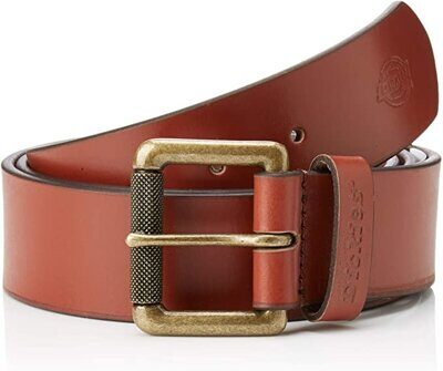 Ремень Dickies South Shore Leather Belt Brown
