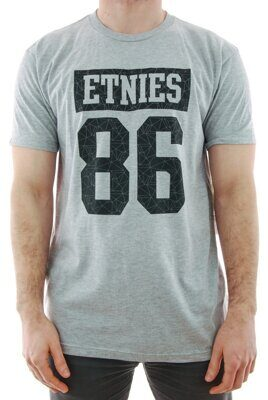 Футболка Etnies Numeric Ss Tee - grey heather