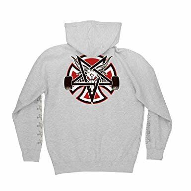 Толстовка Independent x Thrasher Pentagram Cross Pullover Hooded Sweatshirt Grey Heather